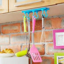 Creative Ceiling Cabinet Kitchen Mounted Utensils Holder Storage Hook Rack