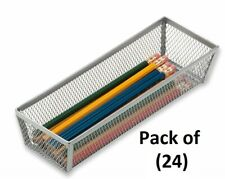 """24 ea Honey Can Do Kch-02159 9"""" x 3""""x2"""" Silver Wire Mesh Steel Drawer Organizers"""