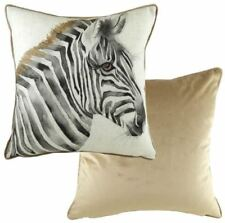 EVANS LICHFIELD MADE IN UK SAFARI ZEBRA BLACK WHITE MINK CUSHION COVER 17""