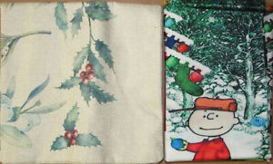 Throw Pillow Covers - Christmas - Charlie Brown, Mistletoe - You choose