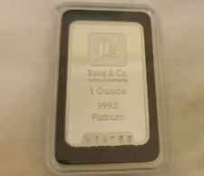 1oz platinum bar from Baird & co in case proof