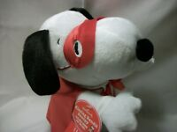 2010 Hallmark SNOOPY KISSING BANDIT Valentines sound and motion PLUSH
