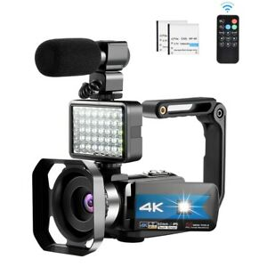 Video Camera for YouTube 4K Night Vision Camcorder Vlogging WiFi Cameras IR Hand