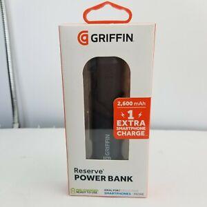 Griffin Reserve Power Bank 2600 MAH for Smartphones, Tablets - Black