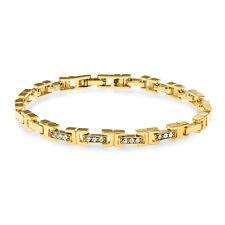 Mahi Eita Collection Gold Plated Crystal Bracelet For Women BR1100197G