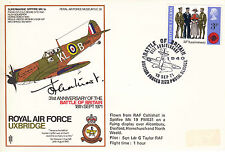 SC30 RAF WWII WW2 cover signed Battle of Britain Air Commodore LEATHART & HUNT