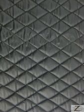 """VINYL QUILTED FABRIC 1/2"""" FOAM UPHOLSTERY BACKING - Matte Black - 52""""/56""""  WIDTH"""