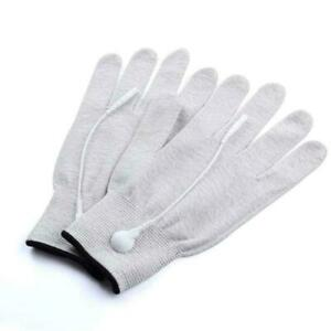 Electro Shock Massage Gloves Electricity Conductive Gloves Fiber Electric A8S3