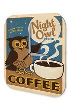 Wall Clock Fun Kitchen Decoration  Owl coffee cup Acryl Acrylglass