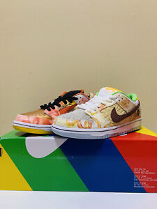 Nike SB Dunk Low Pro QS x Jason Deng 'Street Hawker' Men's Size 6.5 CV1628-800