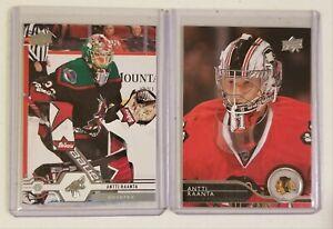 Antti Raanta Upper Deck Chicago Blackhawks/Arizona Coyotes 2 NHL hockey card lot