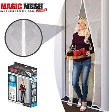 Magic Mesh Deluxe - Bianco - Mani Libere Magnetico Schermo Porta, fino A 39 x 83