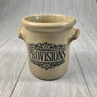 Vintage Moira England Glazed Pottery Stoneware Provisions Crock