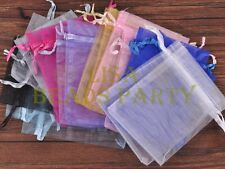 100pcs 16x11cm Organza Wedding Party Decoration Gift Candy Sheer Bags Mixed