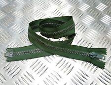 "Genuine British Military 32"" Open End Green Nylon Zip / Zipper Heavy Duty ZPM21"