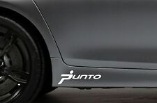 2x Skirt Side Stickers fits Fiat Punto Car Decal Bodywork Sticker VK14