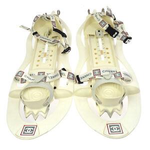 100% Authentic CHANEL CC Logo Snow Line Shoes Limited Edition Vintage V14729