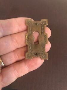 RARE 19th CENTURY Period FANCY VICTORIAN EASTLAKE keyhole escutcheon Spectacular