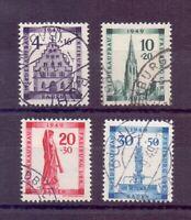 Frz. Zone Baden 1949 - Freiburg - MiNr. 38/41 gestempelt - Michel 200,00 € (068)