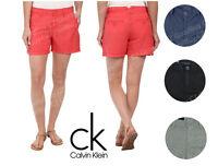 Women's Calvin Klein Linen Blend Classic Shorts Casual Short NEW