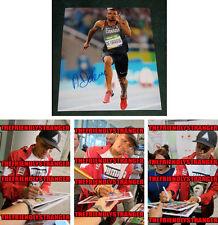 "ANDRE DE GRASSE signed ""2016 OLYMPICS"" 8X10 PHOTO G - PROOF - Sprinter COA"