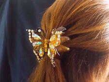 Fashion Women Butterfly Crystal Rhinestone Claw Hair pin Large Acrylic Clip