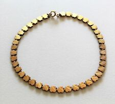 "Antique Victorian Art Nouveau Gold Fill Etched Heart Shaped 15"" Choker Necklace"