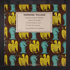 "TENNESSEE WILLIAMS: The Glass Menagerie LP (Mono, 4"" spine split) Spoken Word"