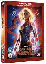 Marvel's Captain Marvel 3D [3D + 2D Blu-ray Region Free Superhero Female Movie]