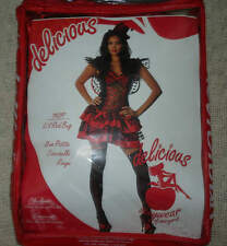 Womens Delicious Sexywear Lil Red Bug Lady Bug Halloween Costume Size M/L 6-10