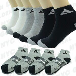 Adi 3 6 9 12 Pairs Sport Ankle/Quarter Crew Mens Socks Cotton low cut Size 10-13