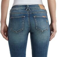 True Religion Women's Halle Super Skinny Stretch The Perfect Jeans in Smoky Blue