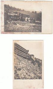 N°4 CART FOTOGRAFICHE - TRENO A VAPORE .TRASPORTO MERCI