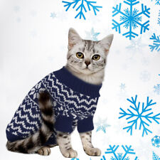 Winter Christmas Knitted Puppy Dog Jumper Sweater Pet Clothes For Small Dogs Cat