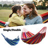 Double Person Camping Canvas Hammock Travel Outdoor Garden Swing Hanging Bed