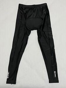 Canari Padded Cycling Tights Men's Medium Black Pants Stretch