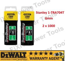 "Stanley 1-TRA704T Heavy Duty Staples 2 x 1000 (6mm- 1/4"") STA1TRA704T NEW"