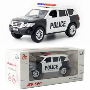 Nissan Patrol Y62 SUV 1:36 Police Model Car Gift Diecast Toy Vehicle Collection