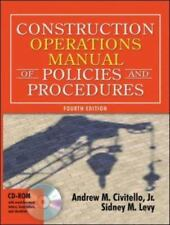 Construction Operations Manual of Policies and Procedures Construction Operatio