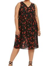 Alice & You Chiffon V Neck A Line Dress In Spanish Floral Size 14