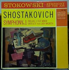 STOKOWSKI shostakovich symphony no. 1 LP VG+ UAL 7004 Pablo Picasso Art 1959