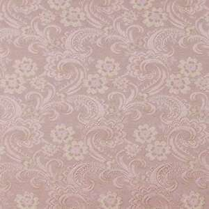 D120 Gold And Pink Paisley Floral Brocade Upholstery Fabric By The Yard