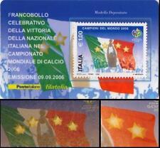 Italia 2006: Campioni del Mondo [ Varietà 8 STELLE ] Tessera Filatelica