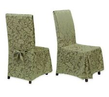 Stylemaster Genoa 2-Piece Dining Room Chair Cover Set, Green