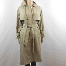 British Mist Womens Trench Coat Size 5 / 6 LIght Olive Green Beige Lightwieght