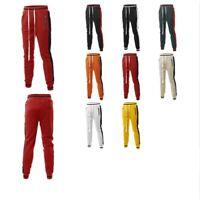 FashionOutfit Men's Side Panel Long Length Drawstring Track Pants