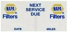 Napa Mm03 Gold Oil Change Next Service Due Decals 200Pk