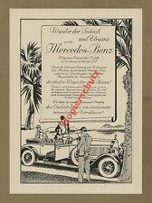 or. Reklame Auto Mercedes-Benz Cabrio Luxus Reise Palmen Art Deco Stuttgart 1927
