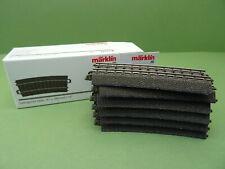 Märklin H0 6x 24115  C-Gleis gebogene Schienen Mä593 Gebrauchter Zustand OVP
