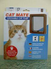 "Cat Mate No. 304B Lockable Brown 2Way Locking Cat Flap / Door  7 5/8""W x 7 7/8""H"
